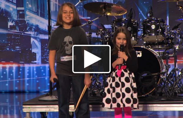 6-year-old auditions with metal