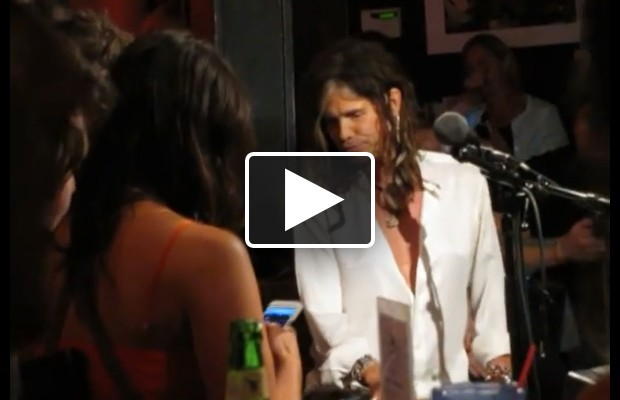 HOLY CRAP!  That's Steven Tyler at The Bluebird in Nashville