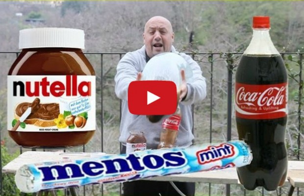 Italian Genius Pushes Mentos and Coke Combo to Its Ridiculous Limits