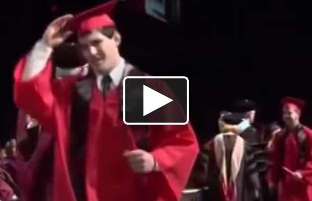 Graduation Back Flip FAIL