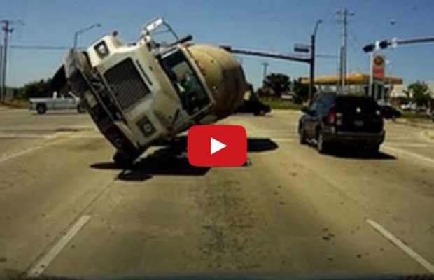 Here's What It Looks Like to Get Nailed Head-On by a Cement Truck