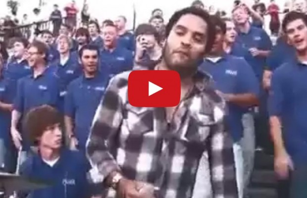 "Lenny Kravitz crashes the VOP Choir in New Orleans for ""Fly Away"""